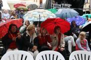 Widzowie byli przygotowani na każdą pogodę