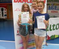 Złote tancerki z trenerem Moniką Michalewicz
